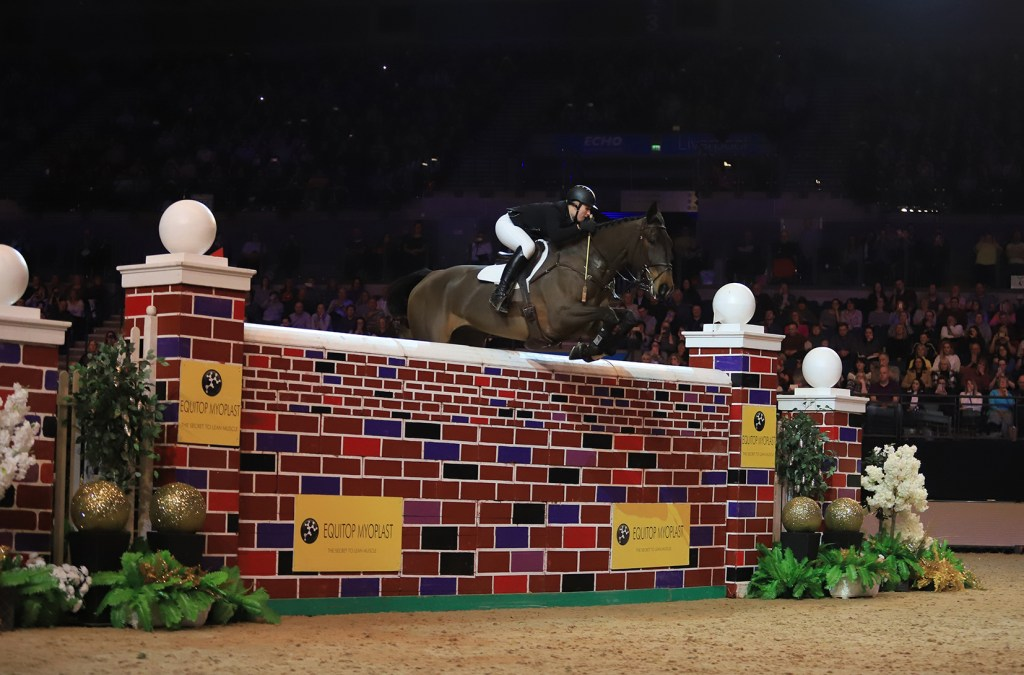 Holly Smith and Quality Old Joker. Liverpool International Horse Show Puissance