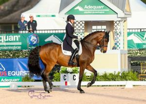 Olivia LaGoy-Weltz and Lonoir put in another winning performance to top the Grand Prix Special CDI3*.