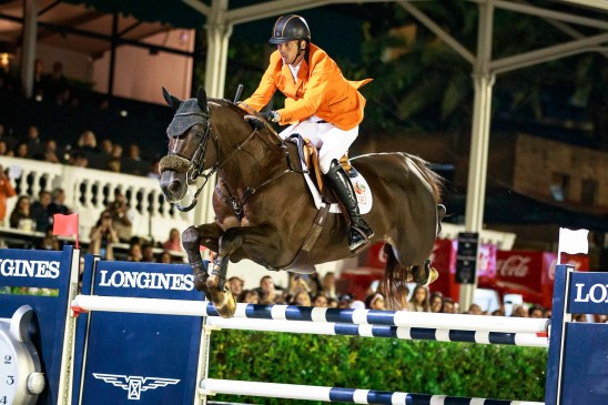 NED-Harrie Smolders rides Don VHP Z to a clear round and secures Team Netherlands the 2017 Title during the Longines FEI Nations Cup Jumping Final. 2017 ESP-Longines FEI Nations Cup Jumping Final - CSIO Barcelona. Real Club de Polo de Barcelona. Saturday 30 September. Copyright Photo: Libby Law Photography
