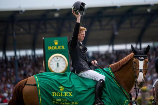 Germany's Marcus Ehning riding Pret A Tout
