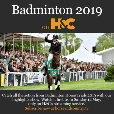 Badminton footage will be aired on Horse and Country TV