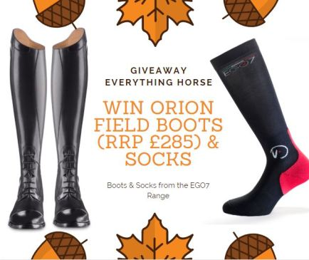 WIN a pair of Orion Field Boots and a pair of socks from