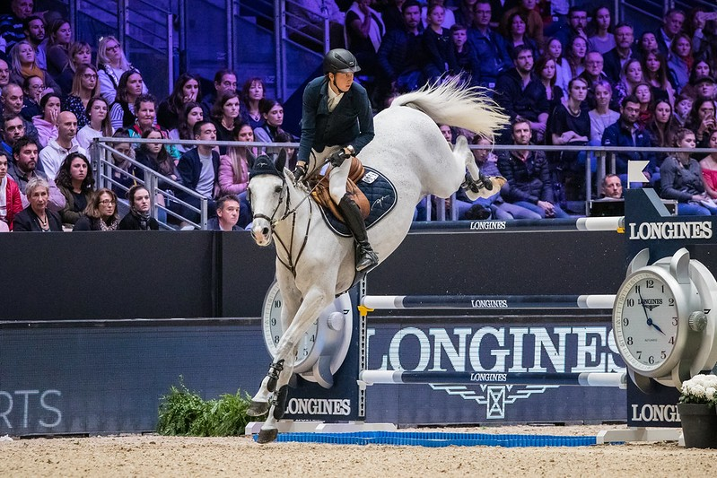 Martin FUCHS (SUI) riding CLOONEY 51 at LONGINES FEI Jumping World Cup™ 2019/20 at Equita Lyon 2019 (FRA). Fuchs finished in first place. Photograph - © FEI / Eric KNOLL