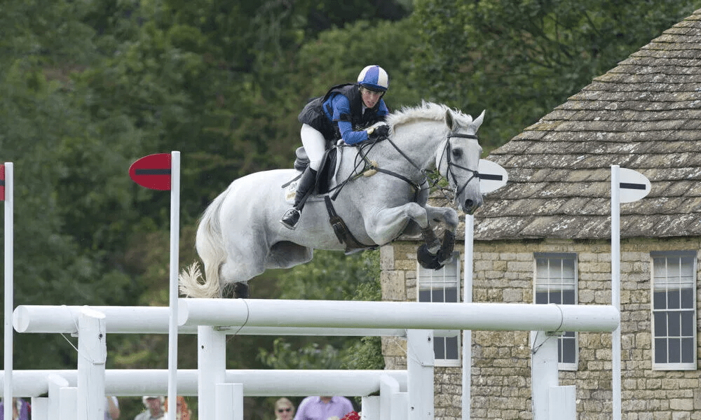 Louisa Milne Home riding King Eider at The Land Rover Burghley Horse Trials 2011.