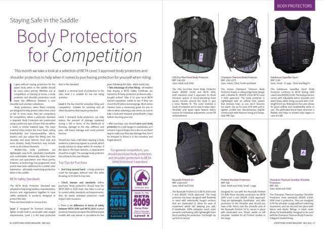 Body Protectors for Competition Everything Horse Magazine Feature