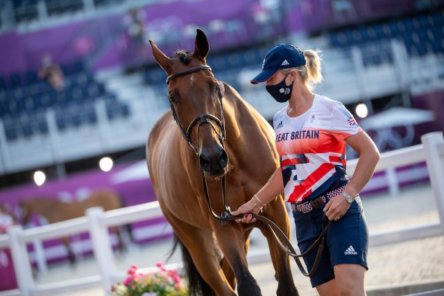Holly Smith (GBR) and Denver - Jumping – Jumping – 1st Horse Inspection - Image Copyright Jon Stroud Media