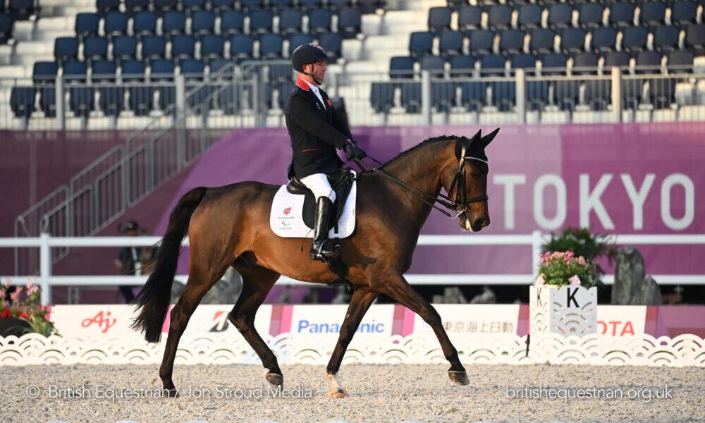 Sir Lee Pearson riding Breezer at the Tokyo Paralympics (British Equestrian/Jon Stroud)