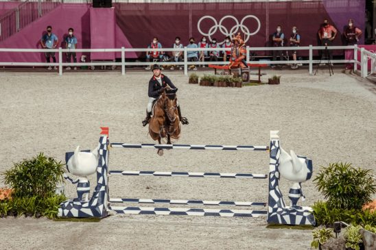 Ben Maher and Explosion W in the Tokyo 2020 Individual Final (FEI/Christophe Taniere)