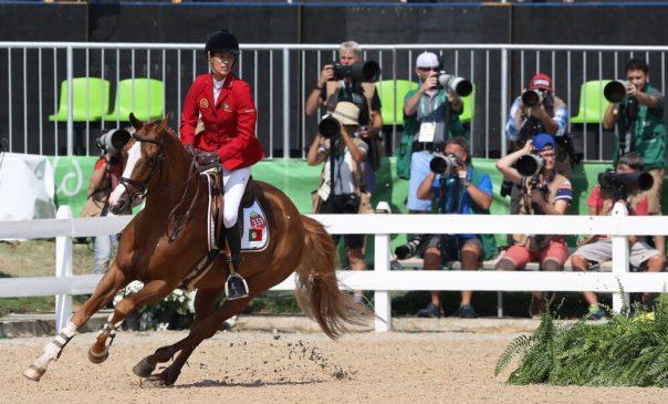 Luciana Diniz (POR) riding Fit For Fun 13 at Rio Olympics 2016 (Comité Olímpico Portugal)