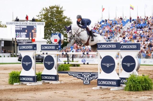 Daniel Bluman and Gemma W won the $300,000 LONGINES Hampton Classic Grand Prix Presented by Land Rover © Kind Media