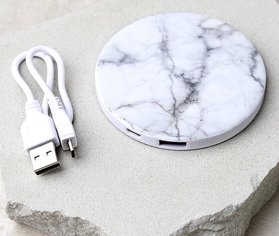 Typo marble wireless portable charger