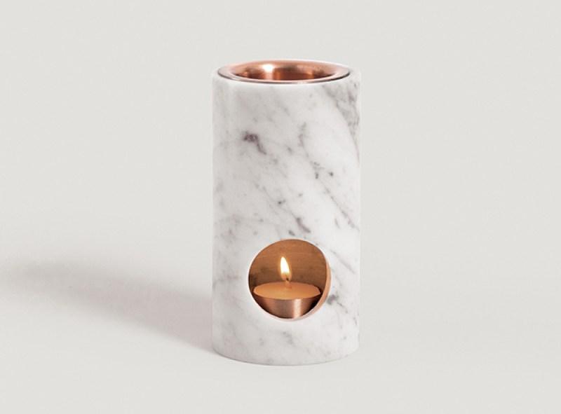 Carrara marble oil diffuser by Addition Studio