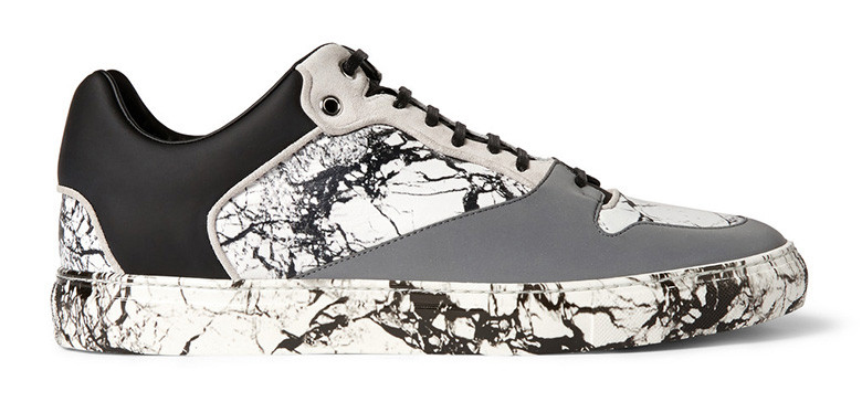 Marble print suede sneaker by Balenciaga -2014