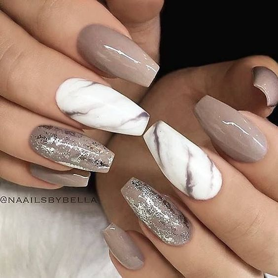 Marble nails by Naails by Bella