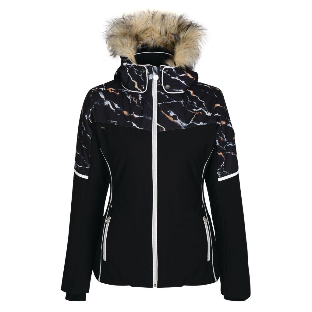 Providence ski jacket in black marble print by Dare2b
