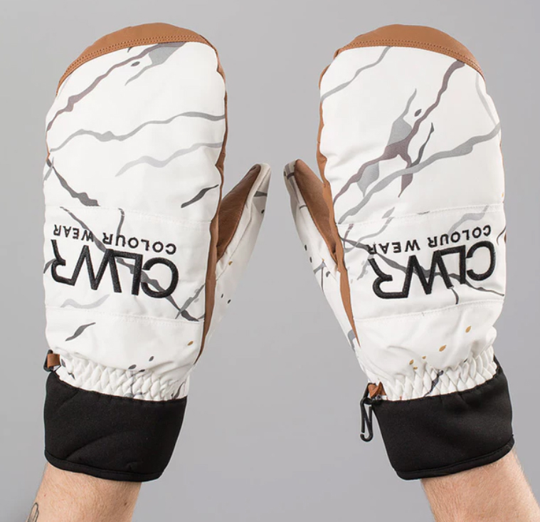 White marble CLWR Ski mittens by WearColour