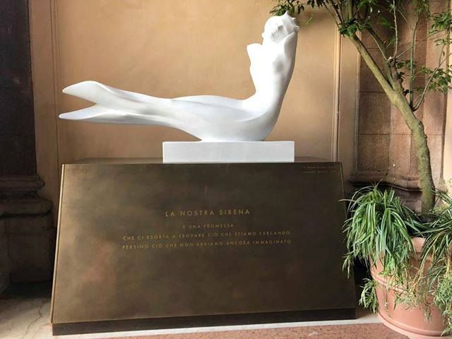 Starbucks Reserve Roastery in Milan, Italy. Carrara Marble Mermaid