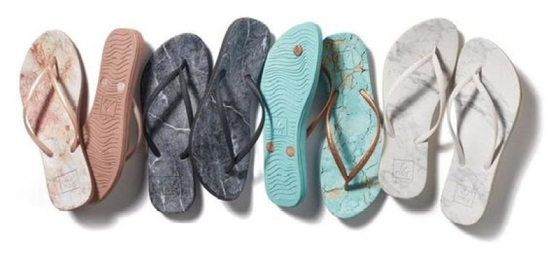 Reef Escape Lux sandals - marble print flip flops
