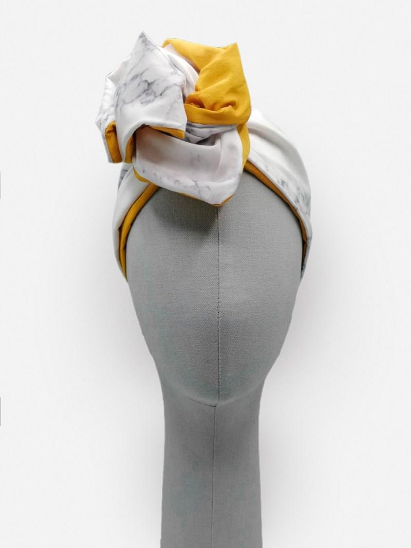 Marble turban by l*ughetta - 100% hand made in Carrara