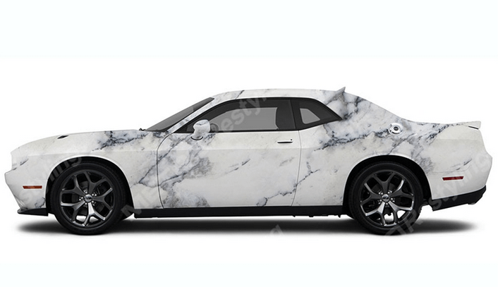 Carrara marble Car Wrap - 3M