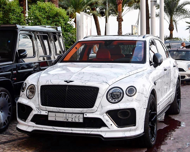 Bentley Bentayga SUV - with Carrara marble wrap