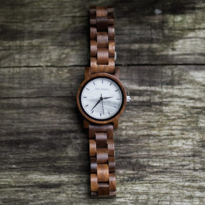 holzkern air wood marble watch