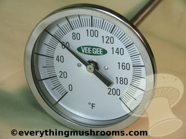 Thermometer, Composting and Pasteurizing, 3in dial with 36in bi-metal stem, 0 - 200 F