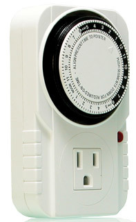 Timer- single outlet grounded, 24 hour cycle 15 minute on/off