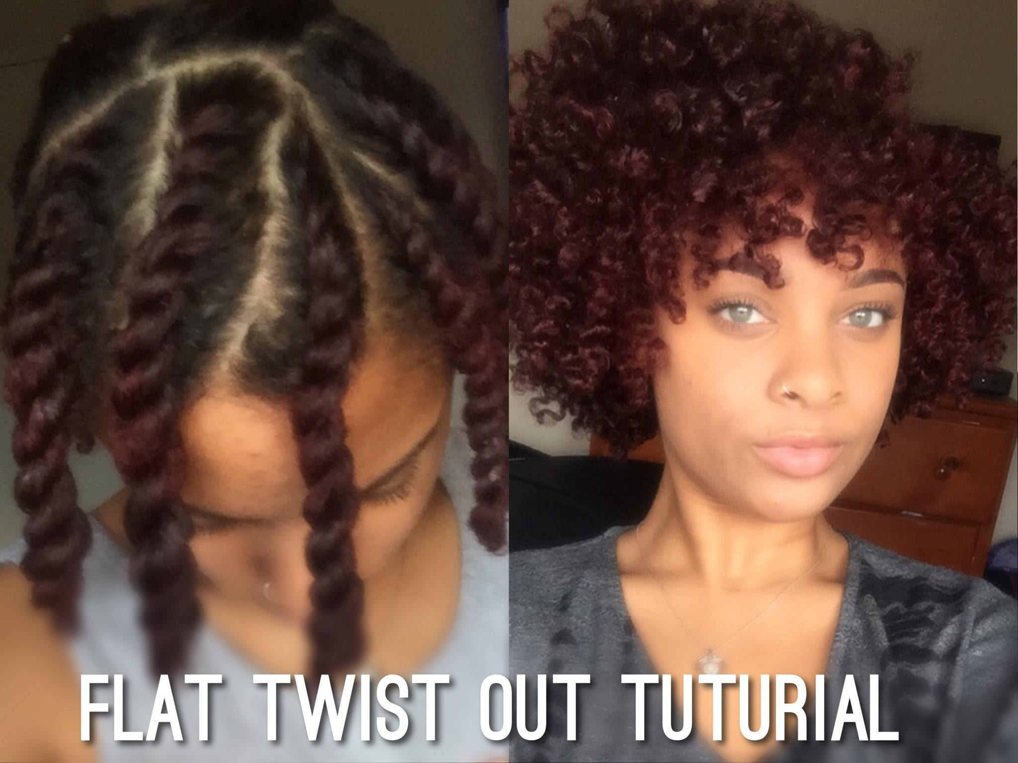 Flat Twist Out on Short Medium Length Natural Hair Everything