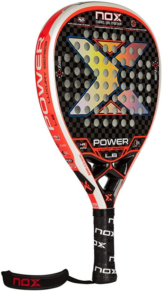 nox luxury power l.6 padel racket