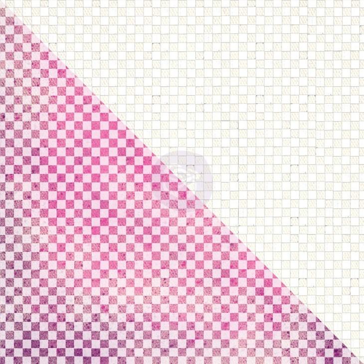 Prima 12x12 White Resist Canvas - Checkers