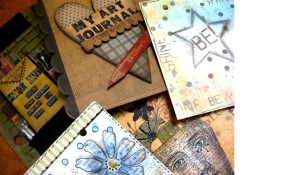Wendy Vecchi Stained, Stamped, and Stenciled Art Journaling