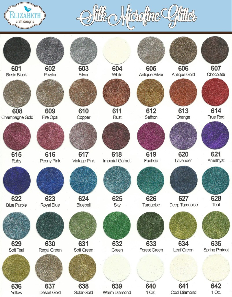 New dies and glitters from elizabeth craft designs for Elizabeth craft microfine glitter