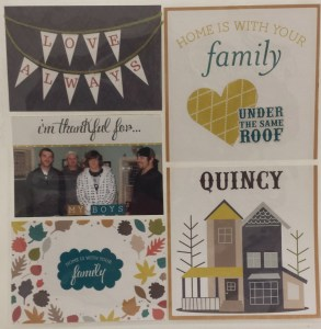 Nancy designed a simple page by using Echo Park Paper. There are no additional embellishments or techniques used and this page is perfect for this style of scrapbooking.