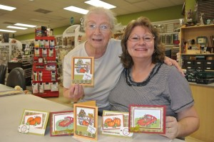 Alice and Annette became fast friends a while back. They had fun together in the card class.