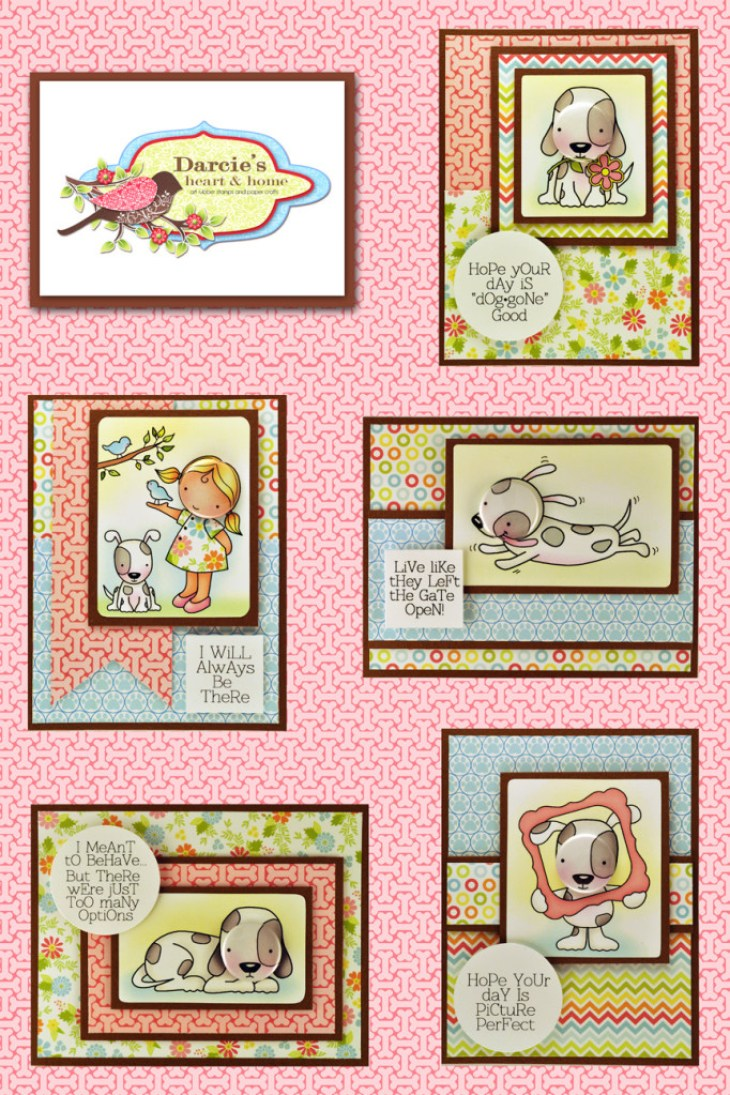 Darcie's January Stamps and Tin Pins