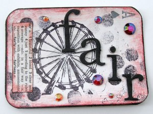 Mixed Media Art & Stamping Trading Cards