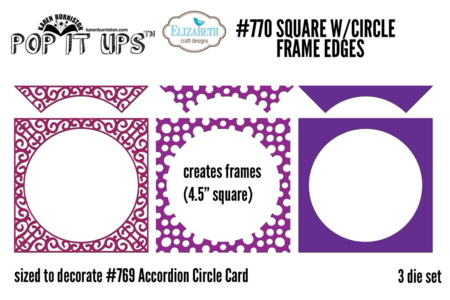 Square with Circle Frame Edges #770