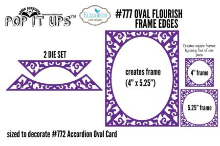 Oval Flourish Frame Edges #777