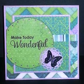 This card uses the Garden Bench Pop It Up die on the inside...
