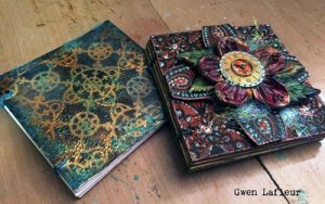 4 x 4 Coptic Stitch Bound Art Journal Gwen Lafleur