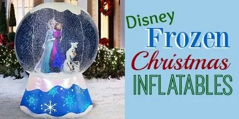 frozen christmas inflatables lawn decorations for the holidays - Disney Frozen Outdoor Christmas Decorations