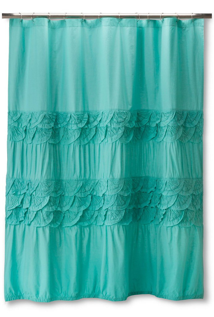 teal boho boutique textured shower