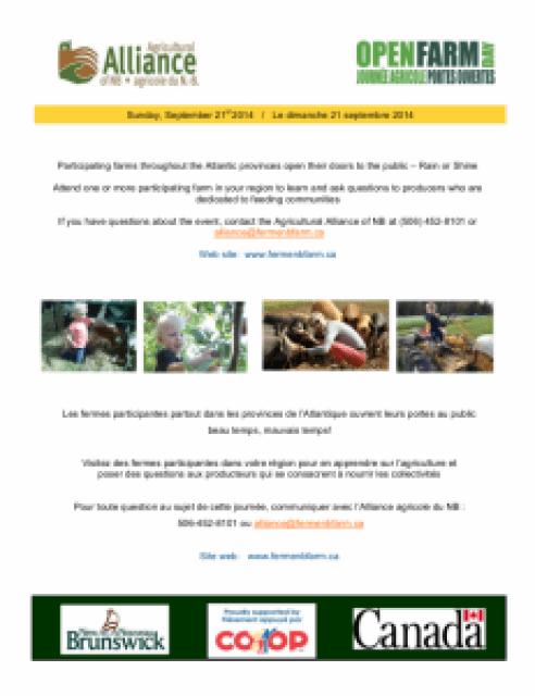 Poster Bilingual Open Farm Day 2014