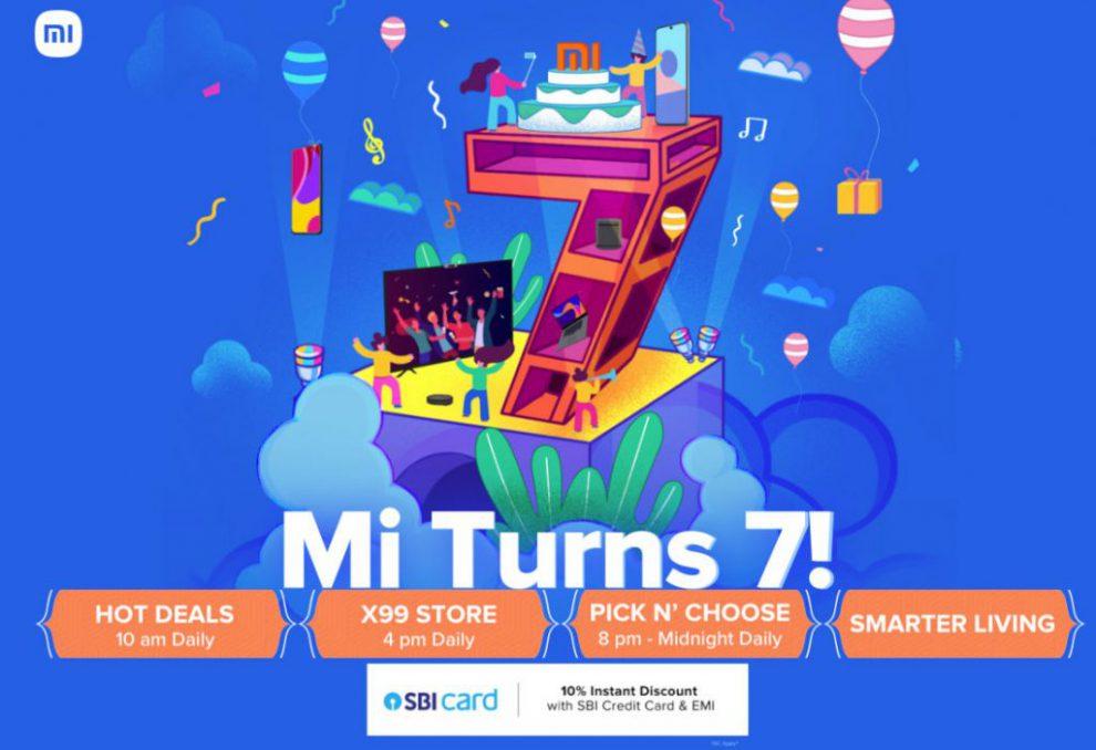 Mi 7th anniversary sale