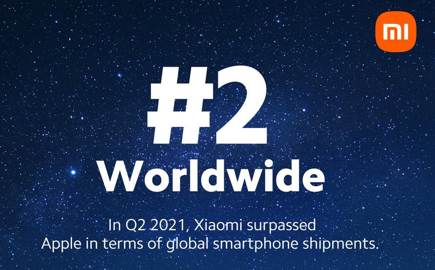Xiaomi number 2 brand