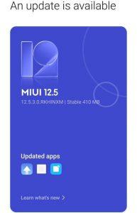 MI 11X MIUI 12.5 Enhanced