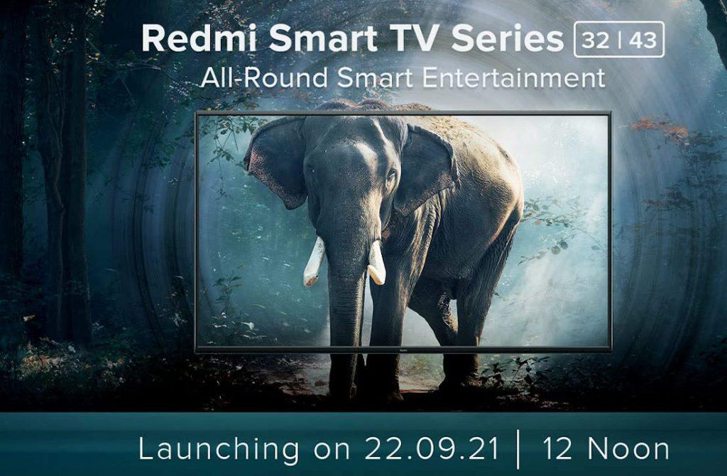 Redmi Smart TV 32 43 India launch invite