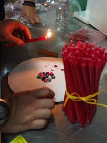 Sealing with wax