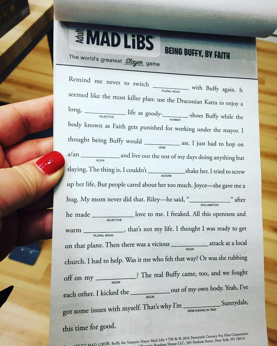 Inspiring Woman Puts Equality For Every Word In This Mad Libs